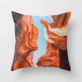Antelope Canyon in Page Arizona | Desert Nature Photography Throw Pillow