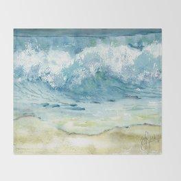 Where the sand meets the sky Throw Blanket