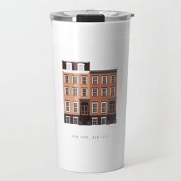 New York, NY Brownstone Travel Mug