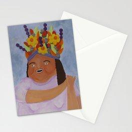 Fruit Basket Woman Stationery Cards