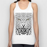 leopard Tank Tops featuring Leopard by BUBUBABA