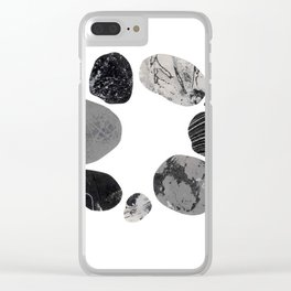 Circle Stones No.1 Clear iPhone Case