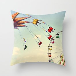 fly & ride Throw Pillow
