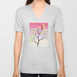 cardinals and dogwood blossoms Unisex V-Neck