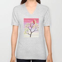 cardinals and dogwood blossoms Unisex V-Neck