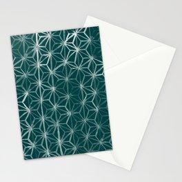 Japanese Geometry - Emerald Stationery Cards
