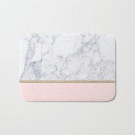Marble Gold Blush Pink Pattern Bath Mat