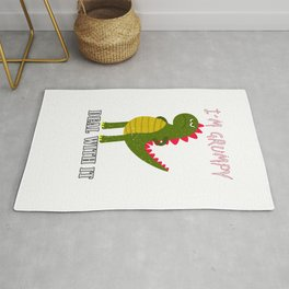 Dino Dinosaur I´m Grumpy Deal With It Rug
