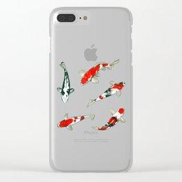 Le ballet des carpes koi Clear iPhone Case
