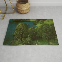 Joachim Patinir - Crossing the River Styx Medieval Fantasy Fairy Tale Landscape Rug