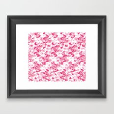 Pink Fantasy Digital Painting Framed Art Print
