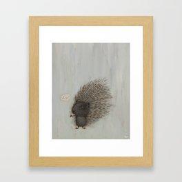Hug? Framed Art Print