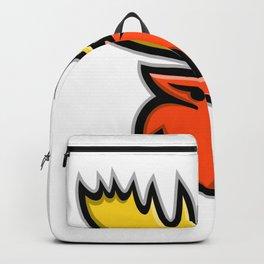 Angry Moose Head Mascot Backpack