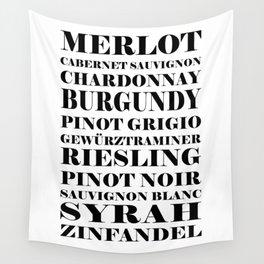 Wine Celebration - White Wall Tapestry