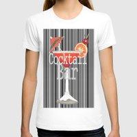 bar T-shirts featuring Cocktail Bar by Sartoris ART