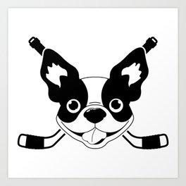 Boston Terriers Hockey Art Print