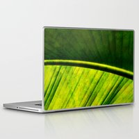 banana leaf Laptop & iPad Skins featuring Banana leaf by helsch photography