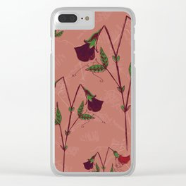 Soft Pink Sweetpeas Clear iPhone Case