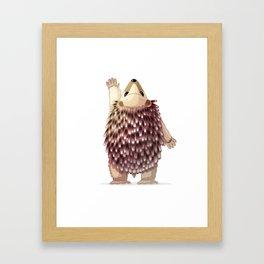 Cute hedgehog. Vector graphic character Framed Art Print