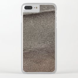 Crumpled Sandpaper Texture Clear iPhone Case