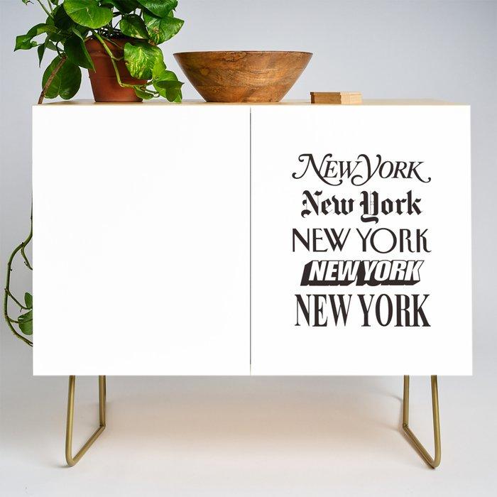 I Heart New York City Black and White New York Poster I Love NYC Design black-white home wall decor Credenza