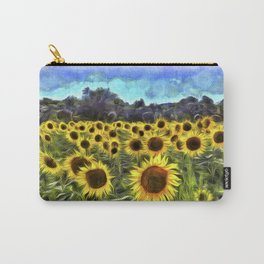 Sunflower Field Vincent Van Goth Carry-All Pouch