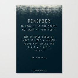 Hawking Quote Canvas Print
