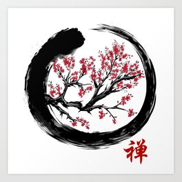 Japanese ENSO ZEN Buddhist SHIRT Art Print
