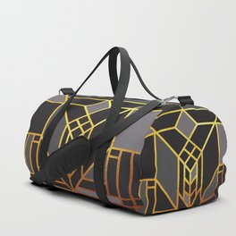 Art Deco Leaving A Puzzle In Grey Duffle Bag
