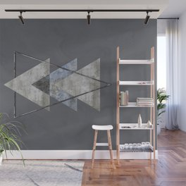 Concrete Meets Marble Triangle Wall Mural