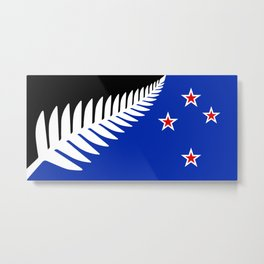 Proposed new national flag design for New Zealand Metal Print