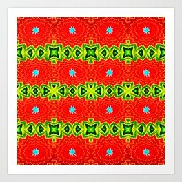 Tantalizing Tiki Pattern Art Print