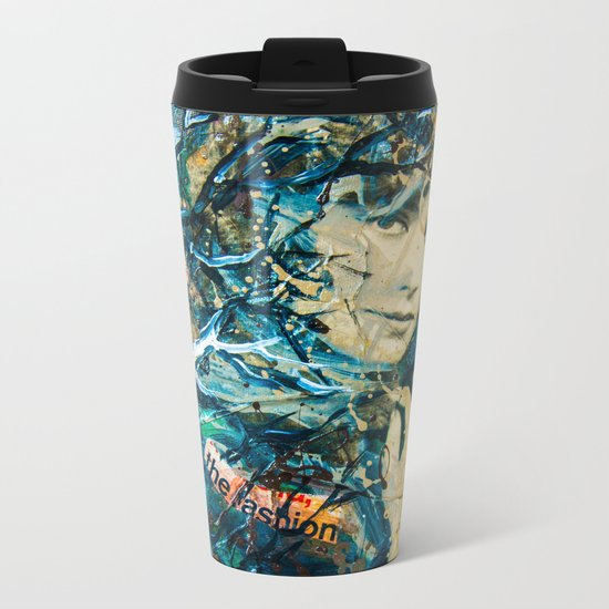 the woman's face #2 Metal Travel Mug