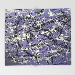 Purple Carnage Throw Blanket
