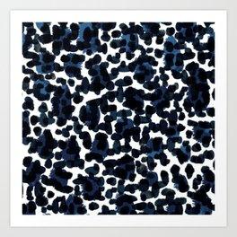 Blue Abstract Watercolour Art Print