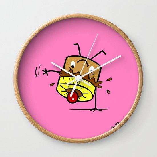 Pineapple Upside Down Cake Wall Clock