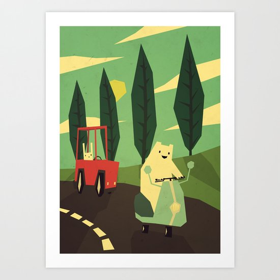 The Chase Art Print