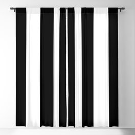 Chic Black and White Stripes Blackout Curtain