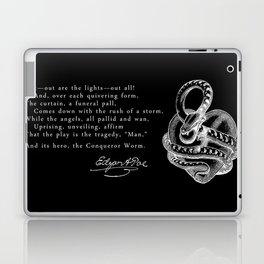 Conqueror Worm - White on Black Laptop & iPad Skin