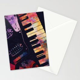 piano and guitar art #piano #guitar #music Stationery Cards
