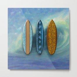 Sunset Beach Hawaiian Surfboards       Metal Print