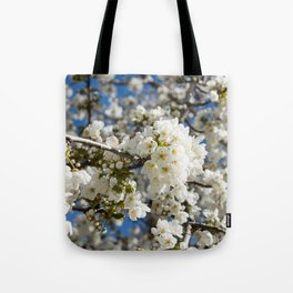 White Blossoms Photography Print Tote Bag