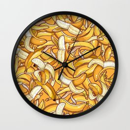 Yellow banana dream. Wall Clock