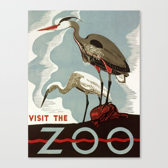 Visit the zoo Canvas Print