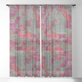 pink and purple pattern Sheer Curtain