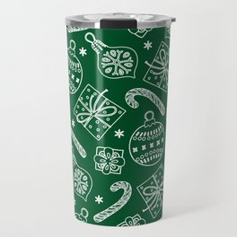 Christmas Doodle Pattern Travel Mug