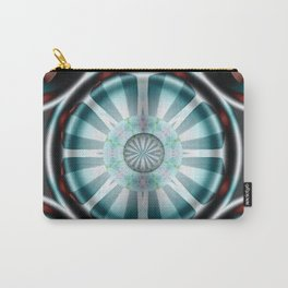 Pinwheel Hubcap in Aqua Carry-All Pouch