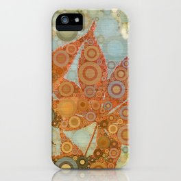 Perky Maple Leaf Abstract iPhone Case