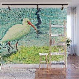 White Ibis Wall Mural