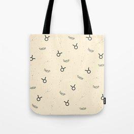 Taurus Pattern - Beige Tote Bag